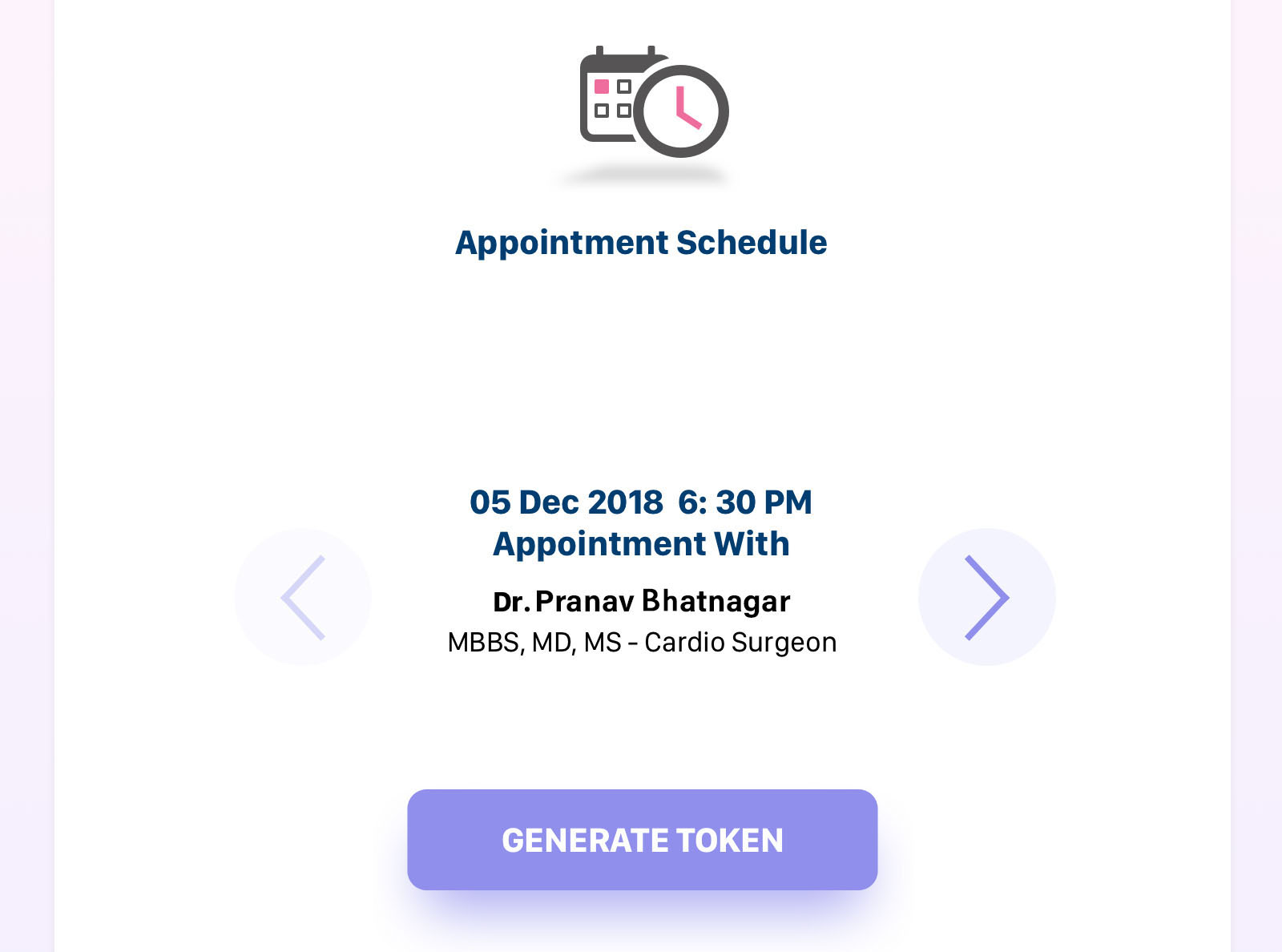 Generate Appointment Token