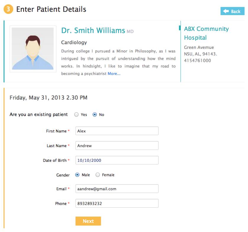 Enter Patient Details