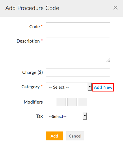 Add Category to Procedure Code