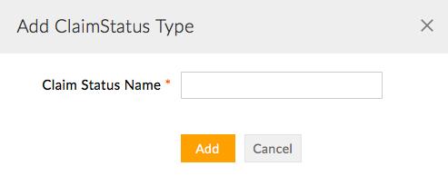 Add Claim Status Type