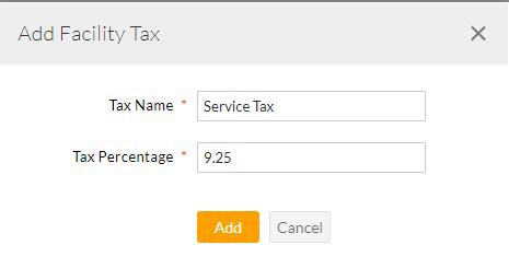 Add Facility Tax