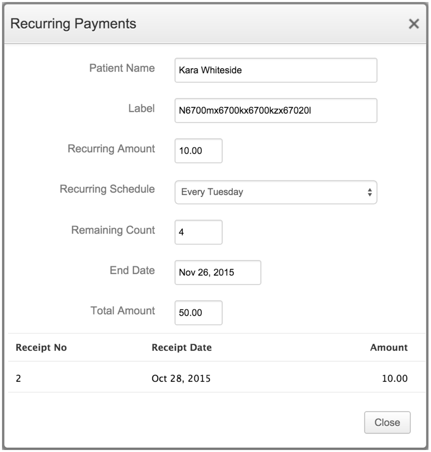 Add Recurring Payments