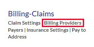 Billing Providers