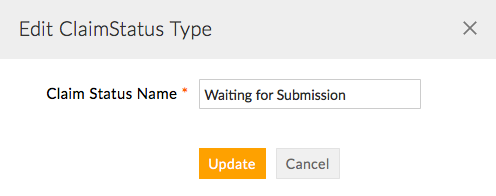 Edit Claim Status Type