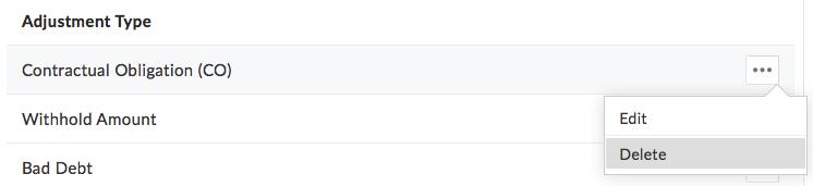 Delete Adjustment Type