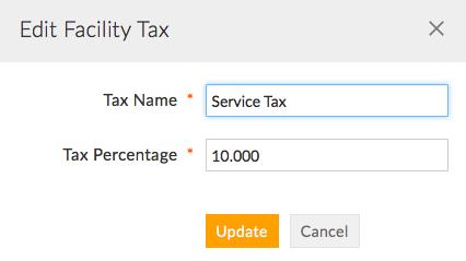 Edit Facility Tax