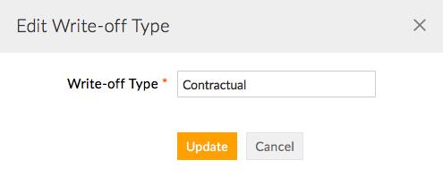 Edit Write off Type