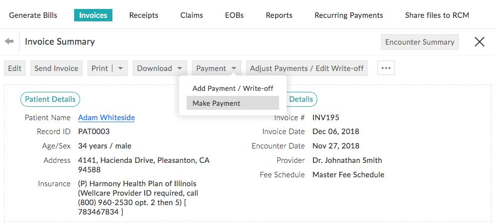 Invoice Summary