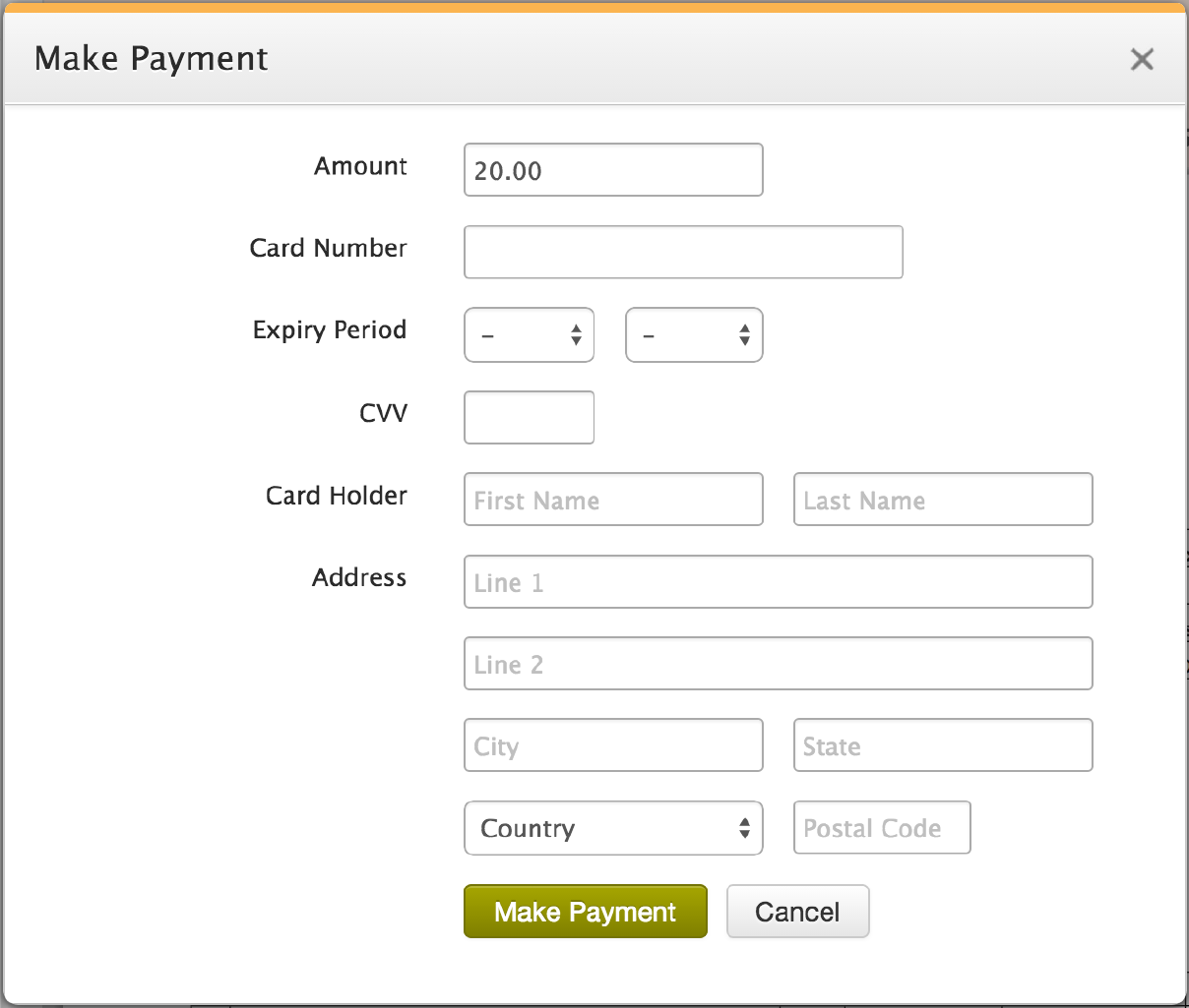 Make Payment From Patient Portal