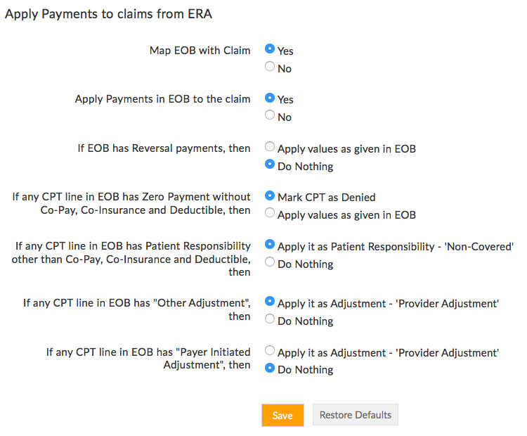 Apply Payment to Claim From ERA