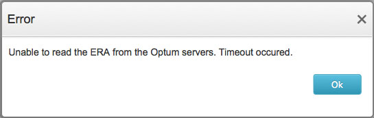 Optum ERA Read Error
