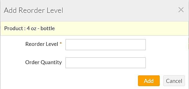 Add Reorder Level
