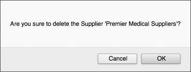 Delete Supplier