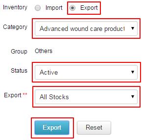 Export Inventory