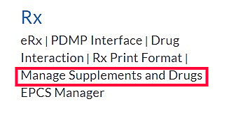 Manage Supplement Drugs