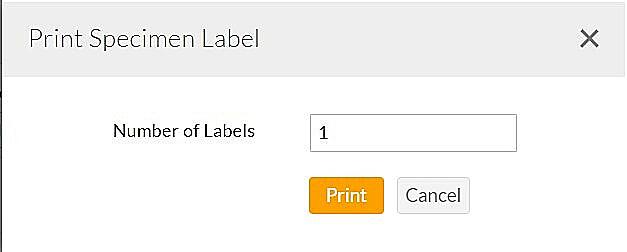 Print Specimen Label