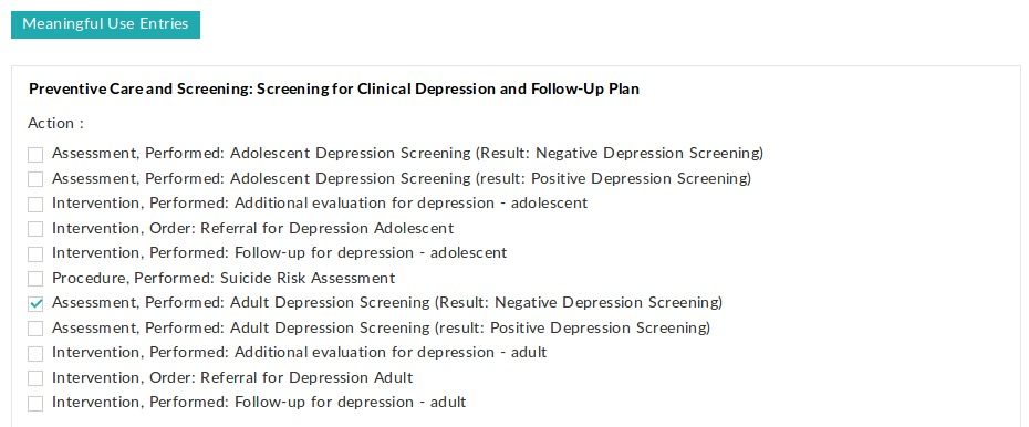 Clinical Depression Screening