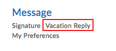 Vacation Reply