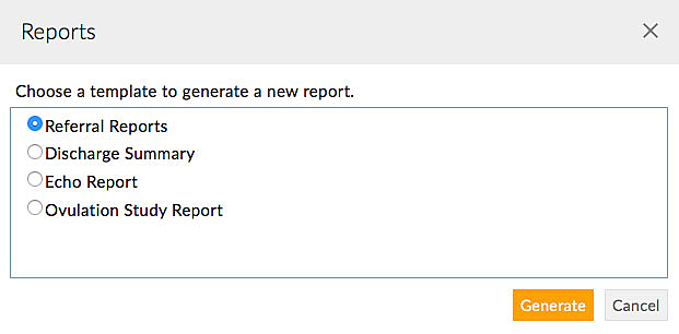 Generate Referral Report