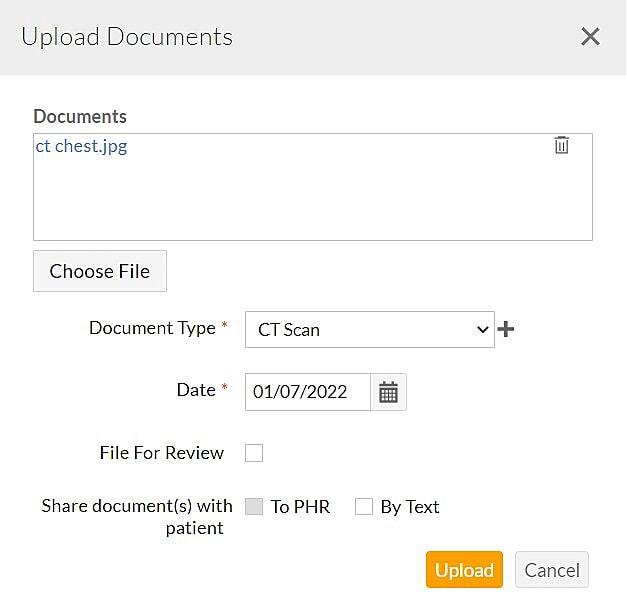 Upload Patient Documents