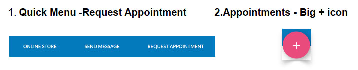 Request Appointment Options