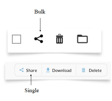 Share Documents Options