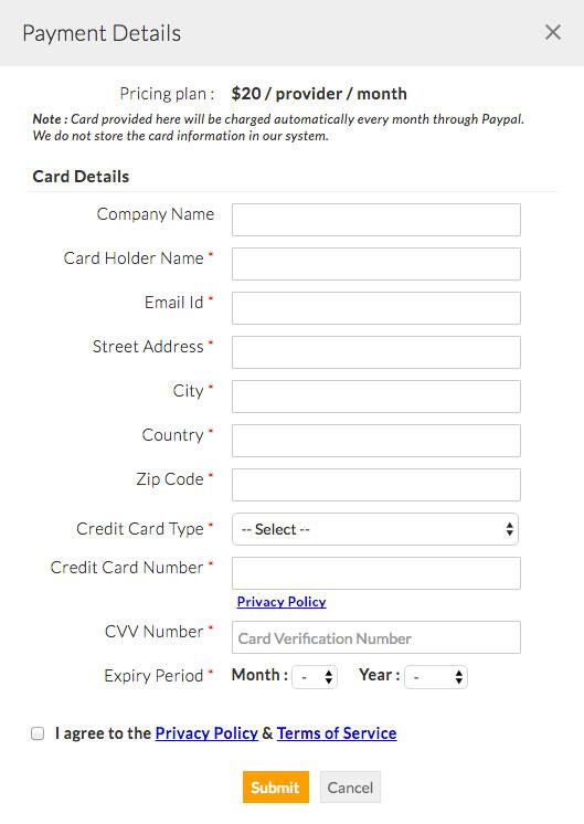 TeleHealth Payment Details