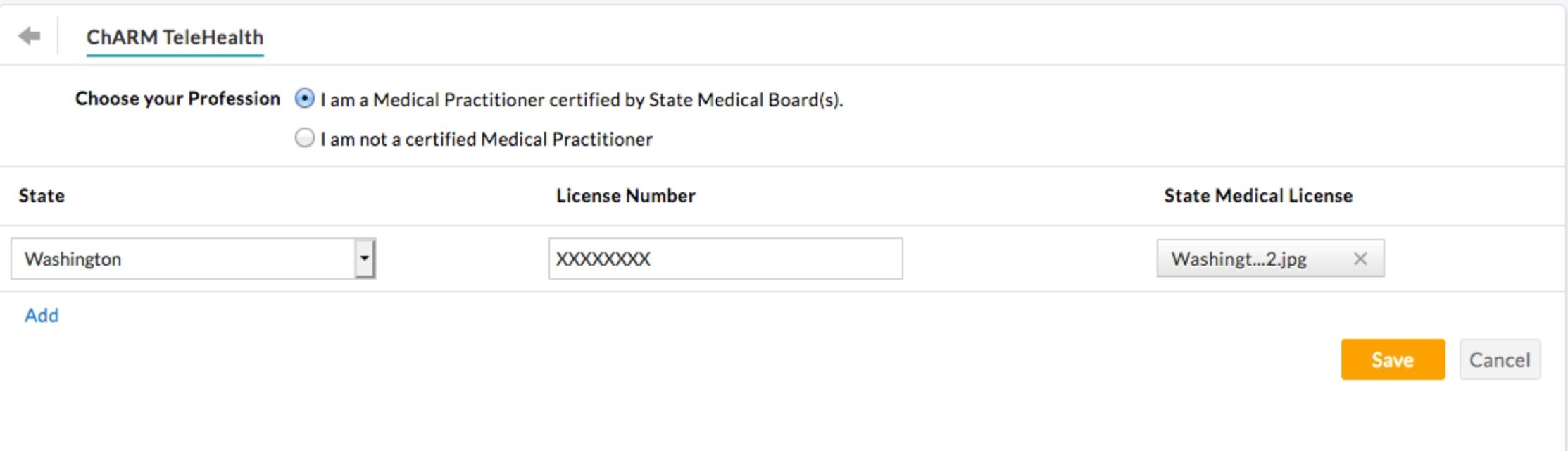 TeleHealth State Medical License