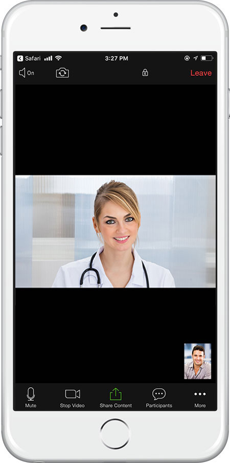 TeleHealth Session in Mobile