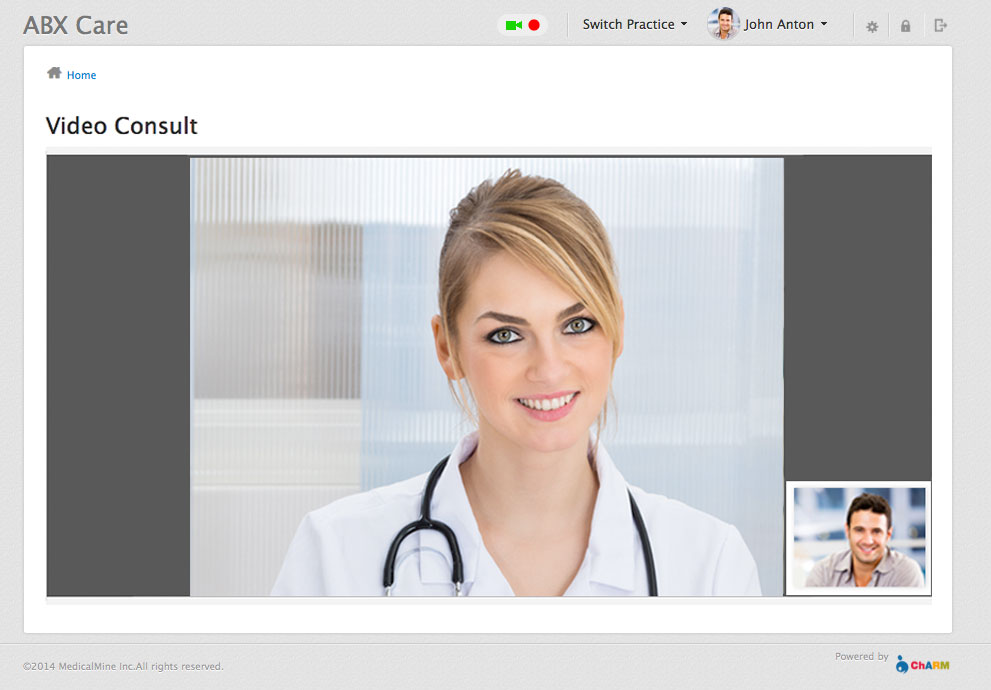 Video Consult in Patient Portal